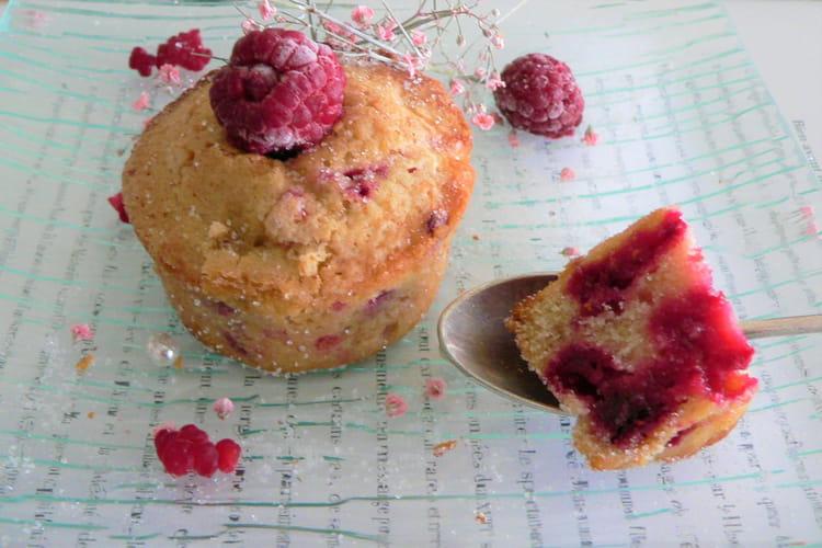 Petits muffins aux framboises au Cake Factory+
