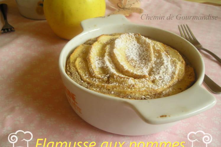 Flamusse fondante aux pommes, cannelle et rhum