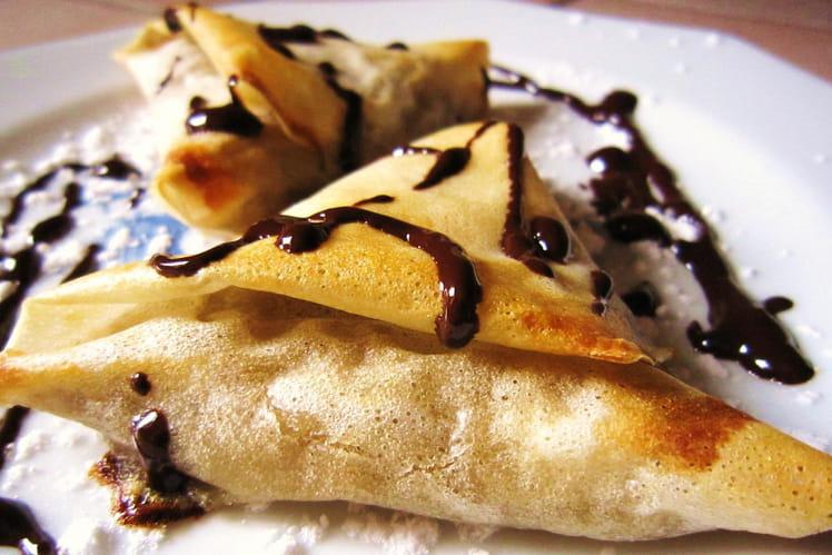 Samoussas à la banane et à la noix de coco