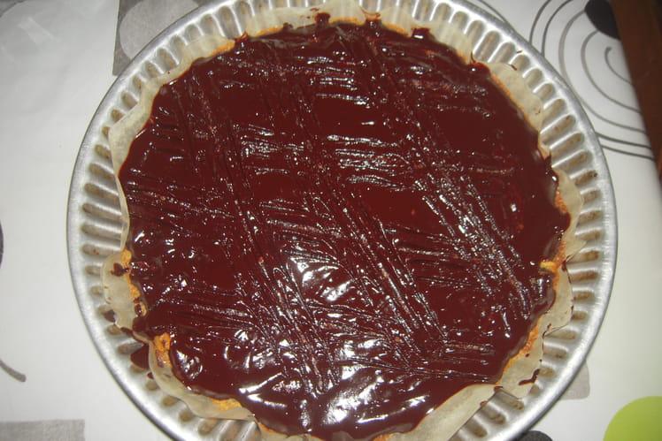 Gâteau aux noix avec nappage au chocolat noir