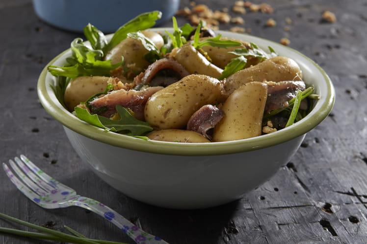 Salade de pommes de terre Ratte du Touquet aux anchois