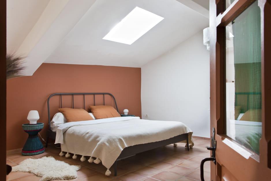 Tête de lit couleurterracotta