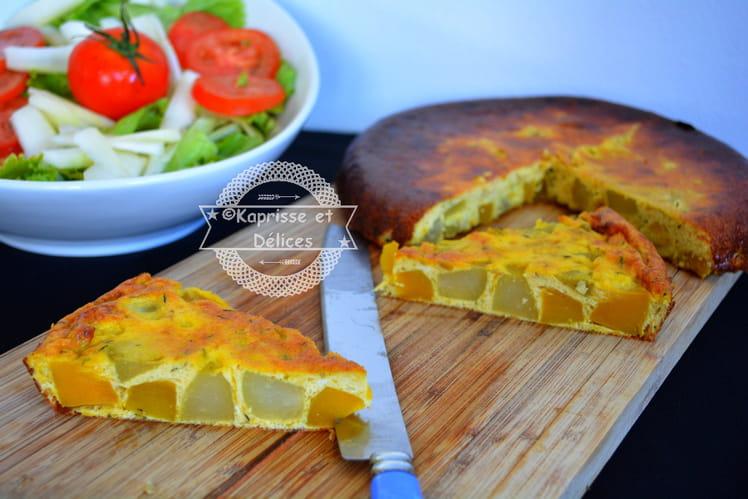 Tortittata de citrouille et chouchou (chayotte)