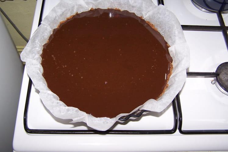 Tarte au chocolat et aux cookies