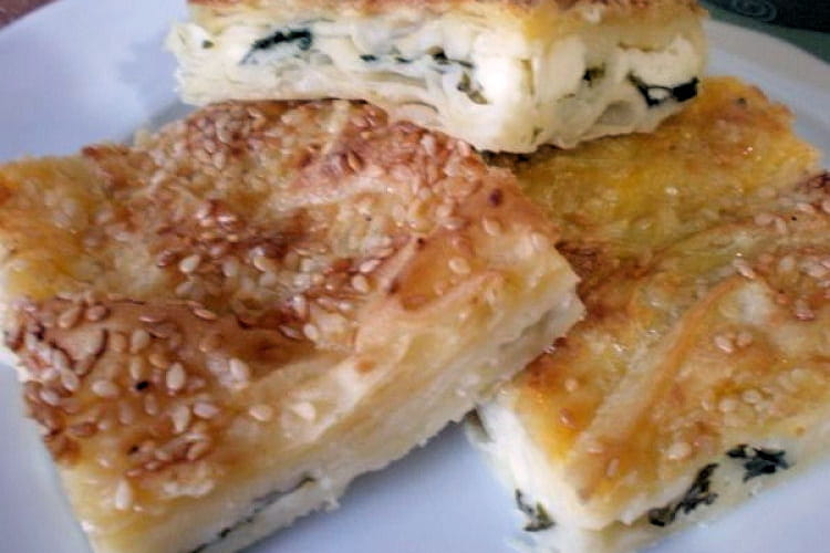 Pâte feuilletée au fromage blanc et à l'eau gazeuze