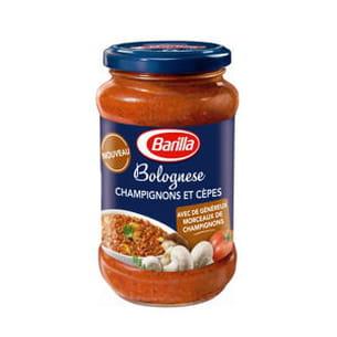 sauce bolognese champignons et cèpes de barilla