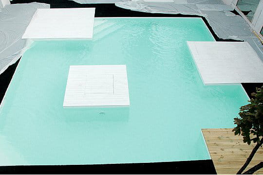 Une piscine chauffée