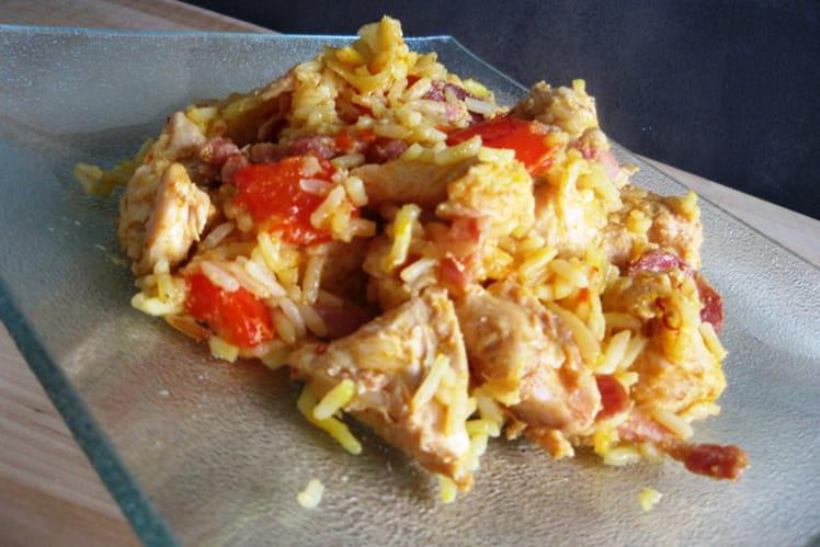 Marmite de poulet au riz à l'espagnol