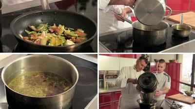 la cuisson du bouillon