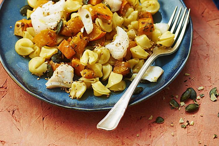 Gratin de collerettes aux légumes d'automne et cabillaud