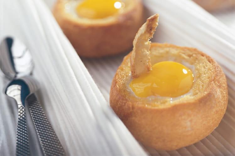 Œufs cocotte en petits pains