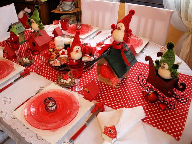 Tables de Noël aux oiseaux