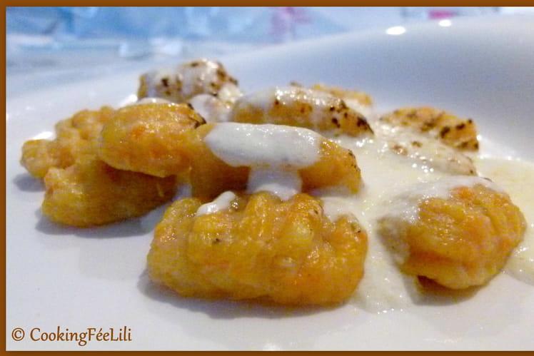 Gnocchis aux carottes et aux noisettes