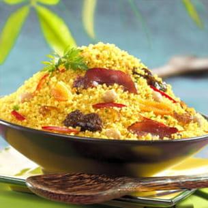 couscous aux fruits secs et canard