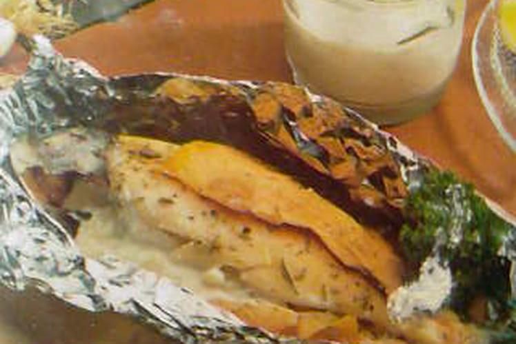 Truite au saumon fumé et roquefort