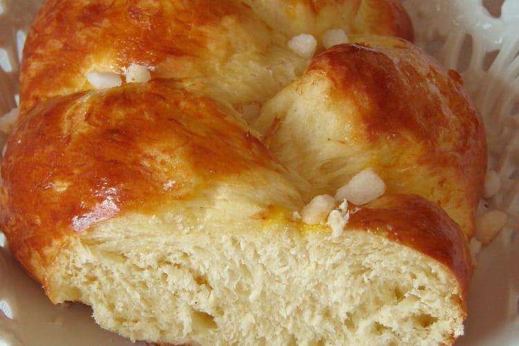 Brioche tressée au sucre (sur poolish)