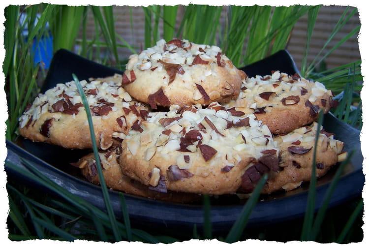 Cookies amandes et cranberries
