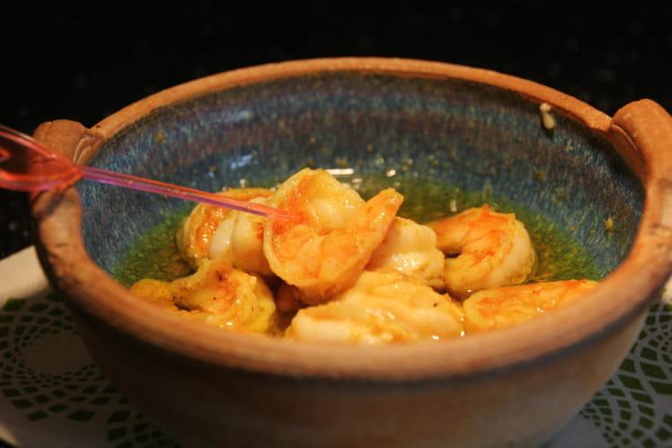 Gambas au curry pour l'apéro