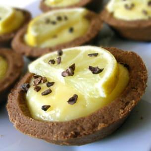 mini tartelettes choco-citron
