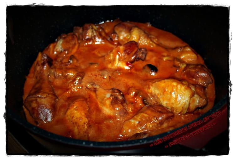 recette de cuisses de poulet à la sauce mexicaine : la recette facile