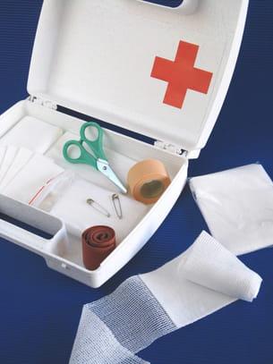 trousse médicale d'urgence.
