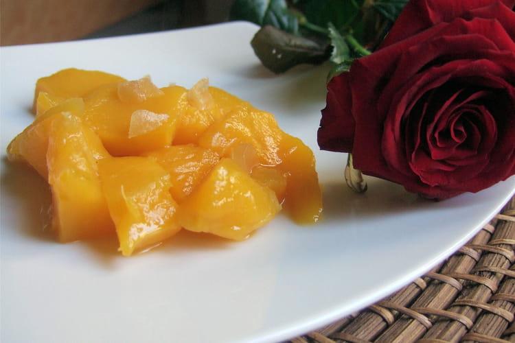Compote de mangue à la menthe et au gingembre
