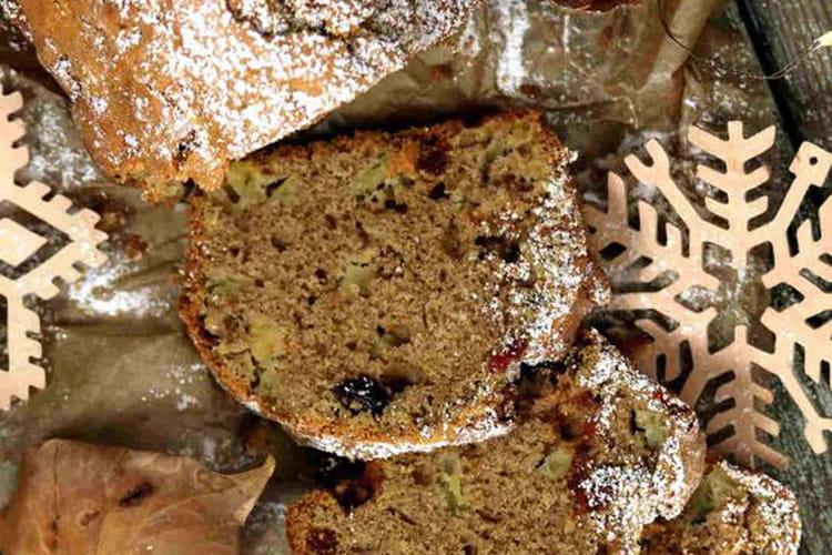 Cake aux mulberries,  cranberries et pommes