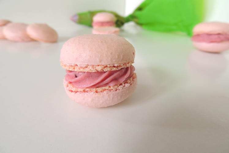 Macarons à la fraise