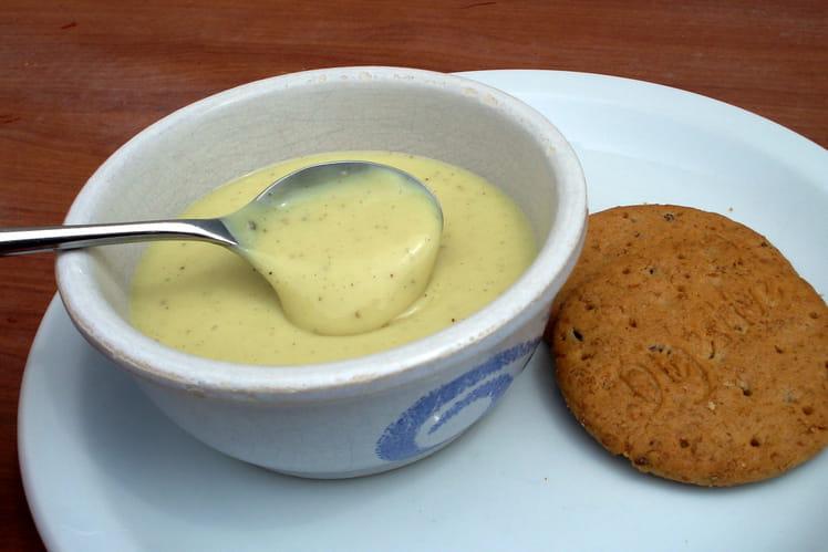 Crème vanille au lait de noisette sans lait, sans gluten, sans oeufs