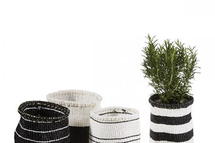 Cache-pot en fibre et plastique recyclé