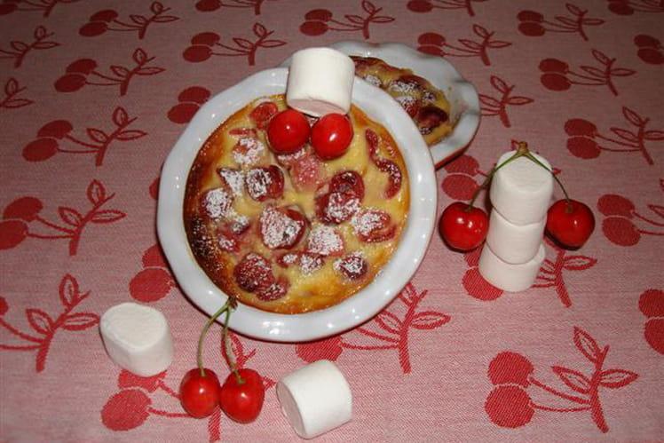 Clafoutis aux cerises et sirop de guimauve