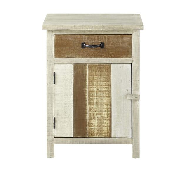 table de chevet noirmoutier de maisons du monde. Black Bedroom Furniture Sets. Home Design Ideas