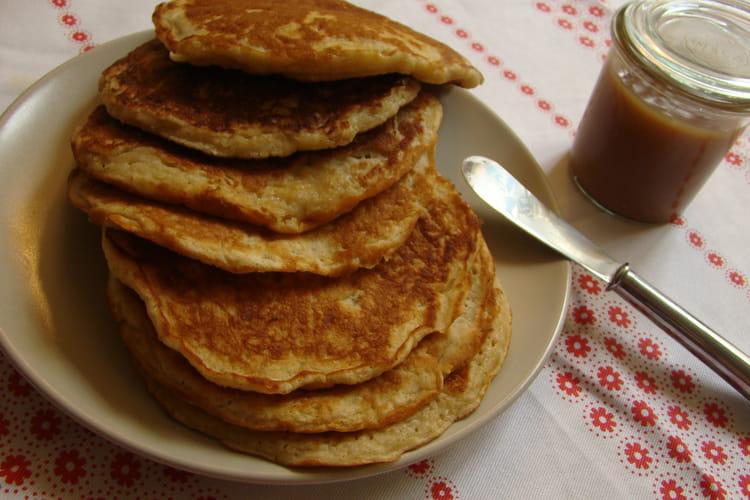 Pancake à la pomme et son caramel fondant