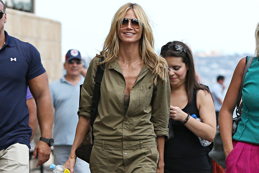 Le look people du jour : Heidi Klum en mode Top Gun