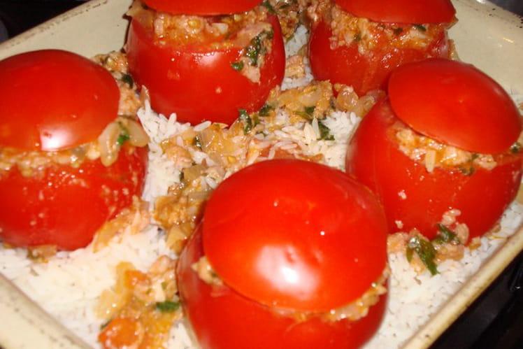 Tomates farcies au pâté