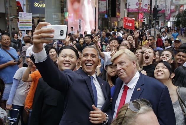 Barack Obama, Donald Trump et Kim Jong Un