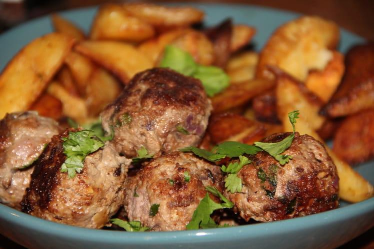 Boulettes de bœuf à la coriandre fraîche et au gingembre