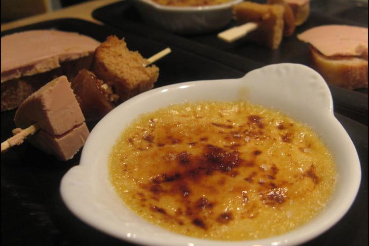 Crème brûlée au foie gras toute simple