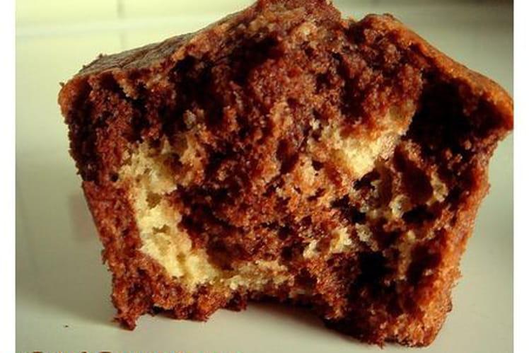 Muffins marbrés chocolat, café, vanille