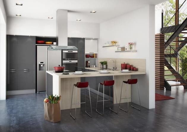 cuisine city graphite hygena. Black Bedroom Furniture Sets. Home Design Ideas