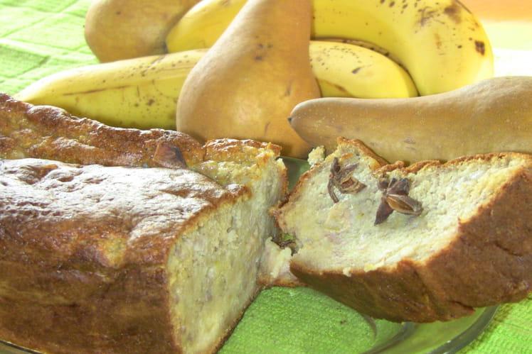 Cake poires-bananes anisées