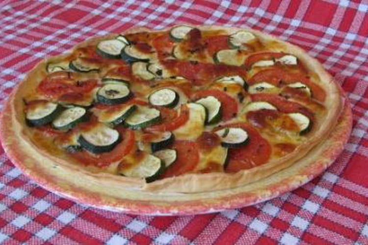 Tarte courgette, tomate, mozzarella