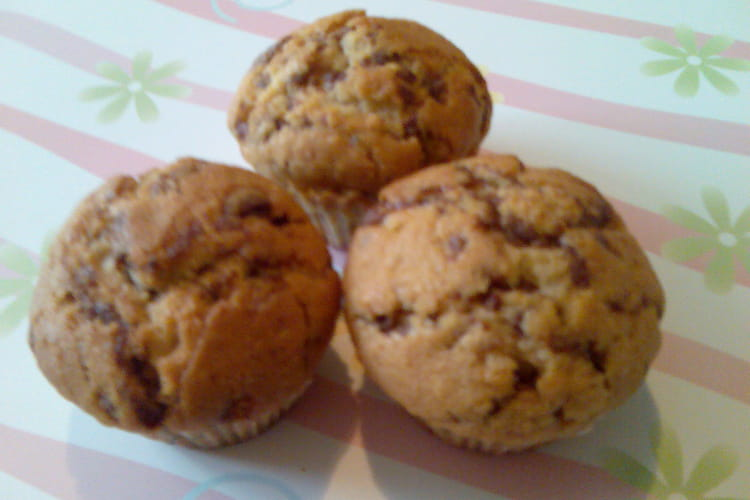 Muffins aux noisettes, tigrés à la Pralinoise