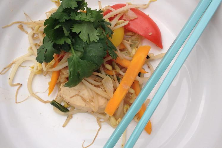 Poulet aux legumes croquants à la plancha ou au wok
