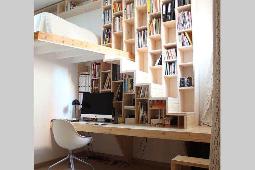 Aménager un bureau sous l'escalier : 10 idées repérées sur Pinterest