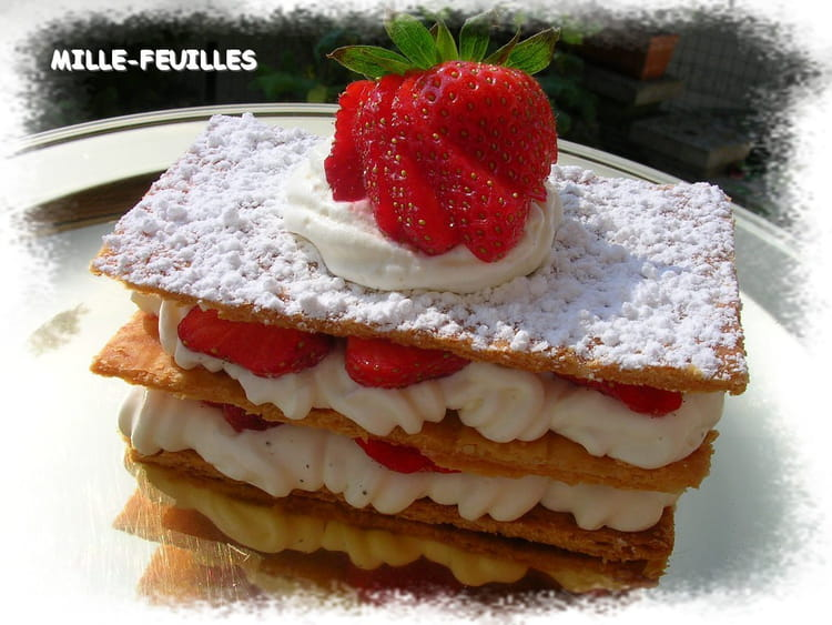 millefeuille fraises chantilly. Black Bedroom Furniture Sets. Home Design Ideas