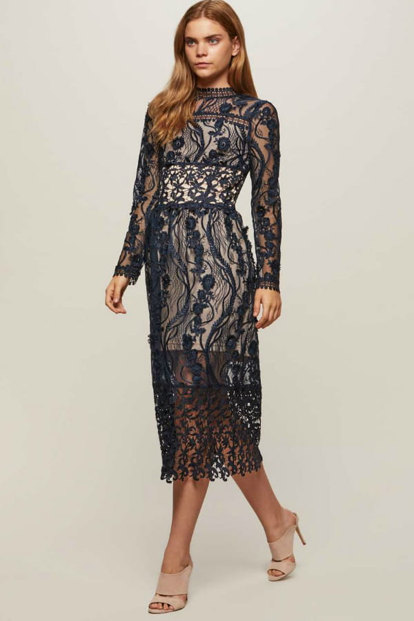 Robe midi de miss selfridge for Mariage robe midi marine