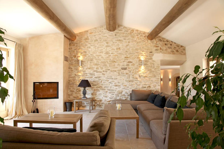 Mur De Pierre Salon murs en pierres apparentes