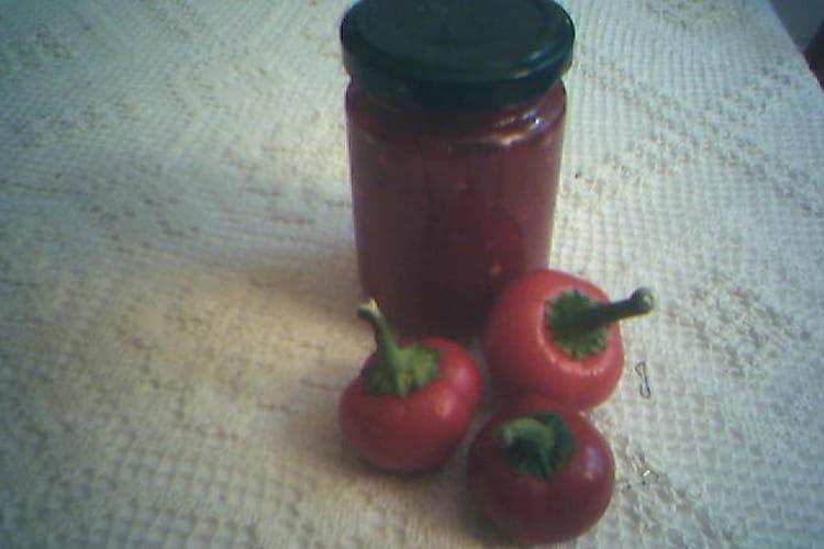 Confiture de piments rouges
