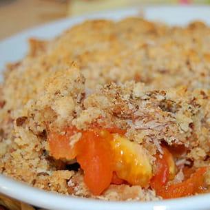 crumble de tomates au thon